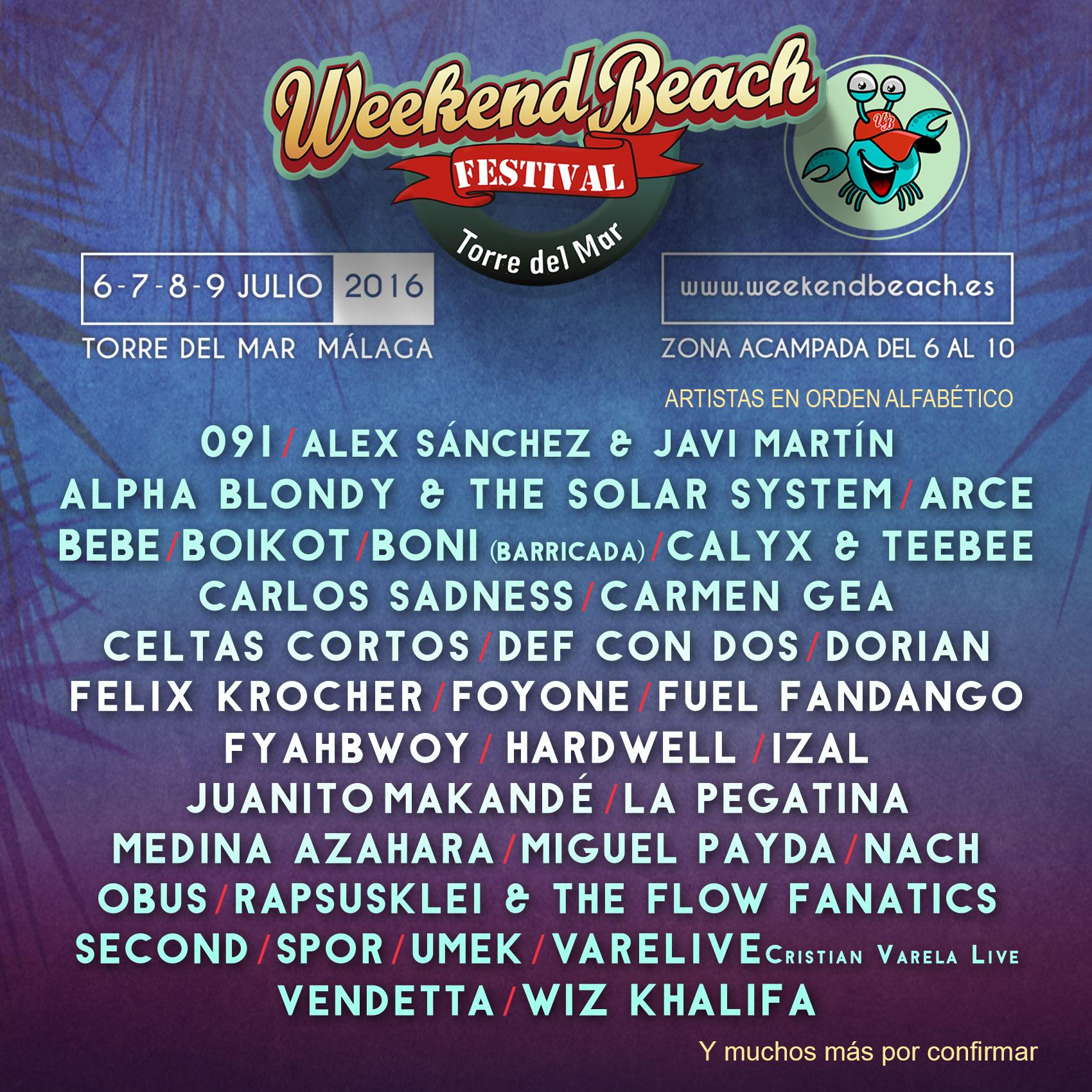 Weekend Beach Festival 2016